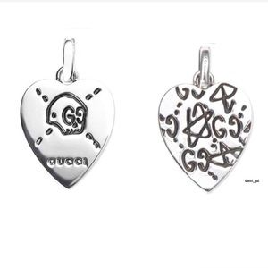 New Gucci Ghost Heart Pendant Charm Authentic